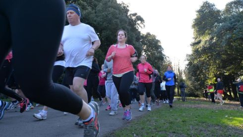 Runners at the parkrun