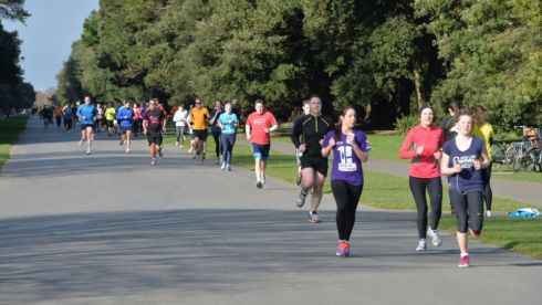 Runners at the St. Annes parkrun