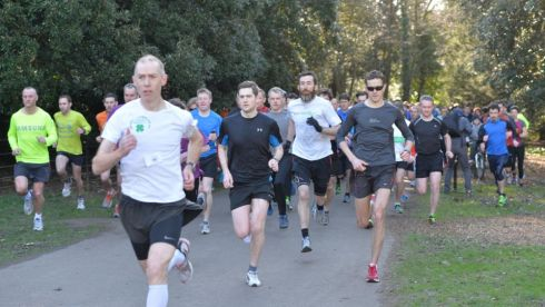 Runners at the St. Annes parkrun.