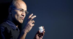 Microsoft chief executive Satya Nadella may unveil the iPad app at an event on March 27. Photo: Bloomberg