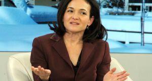 Ban bossy: Facebook COO Sheryl Sandberg. Photograph: ERIC PIERMONT/AFP/Getty Images