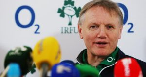 Ireland head coach Joe Schmidt during a press conference at the Aviva Stadium yesterday. Photograph: Brian Lawless/PA