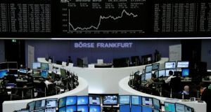 The curve of the German share price index DAX board is pictured at the Frankfurt stock exchange. Photograph: Reuters