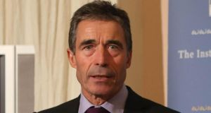 "Nato secretary general Anders Fogh Rasmussen tonight said Russia's move to annex Crimea had put Moscow on a ""dangerous path"". Photograph: Niall Carson/PA Wire."