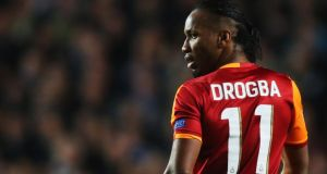 Galatasaray's Didier Drogba during last night's game at Stamford Bridge. Photograph: Clive Rose/Getty Images