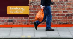 Britain's J Sainsbury has ended a nine-year run of quarterly sales growth.