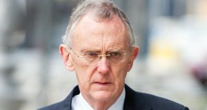 Former Anglo Irish Bank director Gary McGann outside Dublin Circuit Criminal Court today. Photograph: Collins Courts