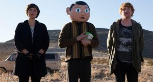 "SXSW Film:  Maggie Gyllenhaal, Michael Fassbender and Domhnall Gleeson in ""Frank"""