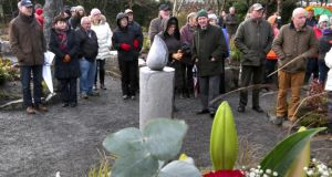 The planting of trees ceremony at the Circle of Life National Organ Donor Commemorative Garden in Salthill, Galway, was attended by members of the organ donation communities from across Ireland. Photograph: Joe O'Shaughnessy