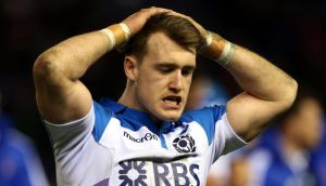 Scotland fullback Stuart Hogg has been given a three-week ban. Photograph: Andrew Milligan/PA Wire