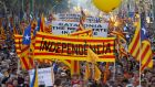 A demonstration in favour of Catalan independence in 2010. A recent opinion poll suggested 60 per cent of people in the region favour a split from Spain. Photograph: Gustau Nacarino/Reuters