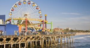 Theme park on Santa Monica pier