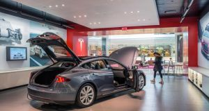 A Tesla Motors showroom in New York
