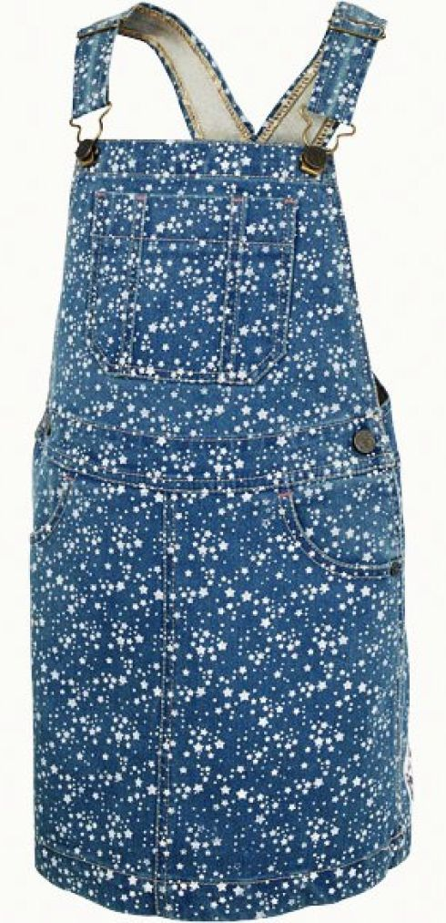 Star Denim Pinny Dress
