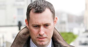 Former financial director of the Quinn Group Dara O'Reilly who gave evidence today in the trial of three former Anglo directors who have all pleaded not guilty to providing unlawful financial assistance to 16 individuals in July 2008 to buy shares in Anglo Irish bank. Photograph: Collins Courts
