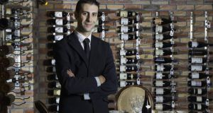 Nicolas Faujours, sommelier and  restaurant manager at Knockranny House Hotel & Spa. Photograph: Michael McLoughlin