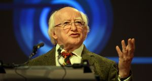 The disproportionate influence of ratings agencies in informing European policy responses to the current crisis is undermining the role of citizens in governing their democracies, President Michael D Higgins said.  Photograph: Cyril Byrne/The Irish Times.