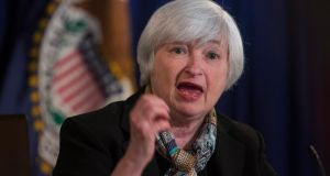 US Federal Reserve chairwoman Janet Yellen: Policymakers in the US and UK now have the happy problem of economies that just might be normalising, leading, ultimately, to more familiar levels of interest rates. In Europe, we are still wondering whether the ECB will ever have to face a similar problem. Photograph: EPA