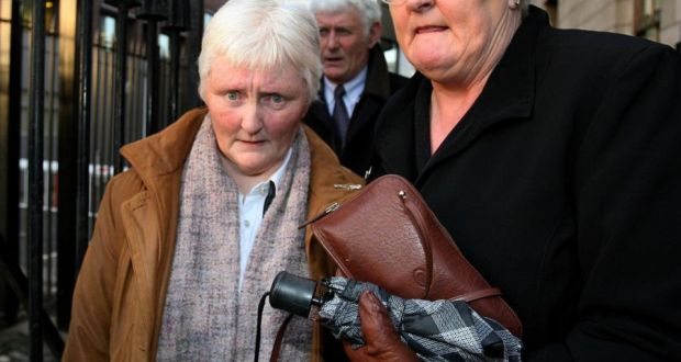 A file photograph of Nora Wall (left) leaving the Court of Criminal Appeal in Dublin in December 2005. Photograph: Julien Behal/PA