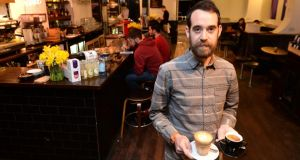 Tom Stafford, of Vice Coffee Inc, Middle Abbey Street, Dublin. Photograph: Dara Mac Dónaill