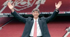 Arsenal boss Arsene Wenger at his unveiling in September 1996.  Photograph:  PA Wire