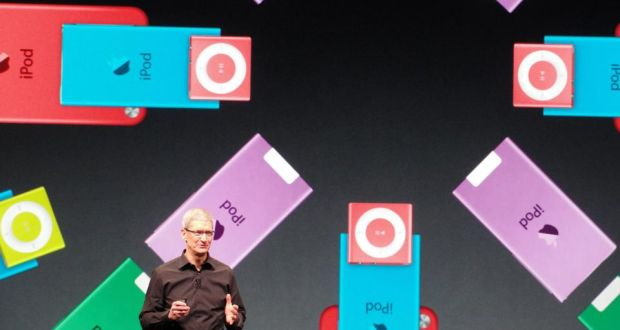 Model behaviour: Apple CEO Tim Cook presents a new iPod Nano recently – by creating the iPod and the associated iTunes, Apple introduced a radical innovation of its business model and changed the market for music