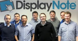 The team of Belfast-based start-up DisplayNote: the company's app allows the teacher to mirror what's on their PC to more than 40 devices at the same time