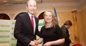 'The party is spending much of its effort and money on the push for Mary Fitzpatrick (above with Fianna Fáil leader Micheál Martin)  to win a seat in Dublin.'