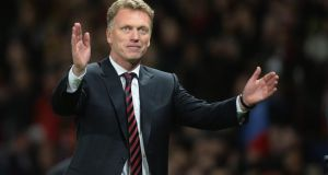 David Moyes after the 3-0 victory over  Olympiakos at Old Trafford last Wednesday.