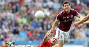 Michael Meehan in action for Galway during last year's championship. Photograph: Inpho
