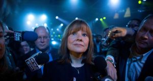 Mary Barra,  chief executive of General Motors  is scheduled to testify at a US congressional hearing  into why GM took more than a decade to recall vehicles linked with a  dozen deaths. Photograph: Andrew Harrer/Bloomberg