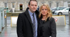Roisin and Mark Molloy who went to Leinster House earlier this year  seeking cross-party support for a Hiqa inquiry into all baby deaths in Portlaoise hospital. Photograph: Eric Luke