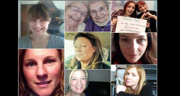 Thousands of pictures have been posted both on Facebook and Twitter under the #nomakeupselfie campaign