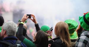 File picture showing spectators during the St Patrick's Day Parade in Dublin. Photograph: EPA/Barry Cronin
