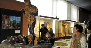 The sculpture of the 'leopard man' at the Museum of Central Africa in a suburb of Brussels. Photograph: Georges Gobet/AFP/Getty