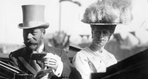 King George V, with Queen Mary: presented Jack Moyney with his Victoria Cross. Photograph: Getty Images