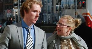 "Lucas and Michelle Neville at the High Court, Dublin. ""What happened to him and what he went through should not have happened,"" Mrs Neville said yesterday. Photograph: Gareth Chaney/Collins"