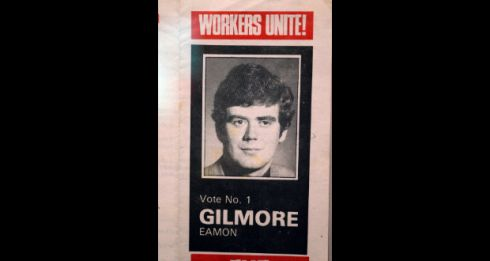 A younger Eamon Gilmore during his time with the Workers' Party.  Photograph: Eric Luke/The Irish Times