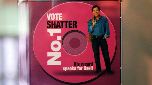 Alan Shatter promotional material for an election. Photograph: Eric Luke/The Irish Time