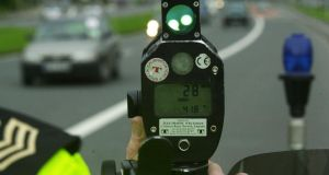 Speeding fines: last year 1,754 drivers escaped points after making a poor-box contribution. Photograph: Cyril Byrne