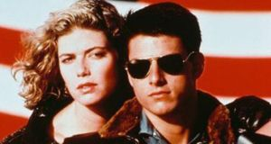 Tom Cruise and Kelly McGillis in Top Gun