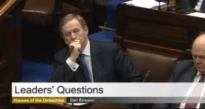 Taoiseach Enda Kenny in the Dáil this afternoon.