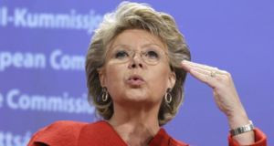 EU justice commissioner Vivian Reding raised concerns about the appointment procedure for the regulator. Photograph: Thierry Roge/Reuters