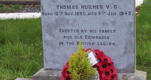 Thomas Hughes's grave at Broomfield, Co Monaghan. Photograph: Carrickmacross Workhouse Cemetery