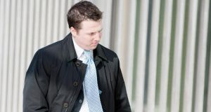 Former garda Stephen Cooper arriving at Dublin Circuit Criminal Court yesterday. Photograph: Collins Courts