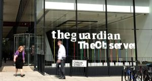 Guardian deputy editor Paul Johnson said Britain's intelligence agencies visited it and said it would be closed if it  persisted in publishing Edward Snowden's revelations about mass surveillance. Photograph: Bethany Clarke/Getty Images