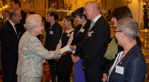 "Queen Elizabeth II meets Cork fishmonger Pat O'Connell at the Irish Community Reception. The Queen met Mr O'Connell three years ago during her State visit to Ireland. On recognising Mr O'Connell at last night's event, the Queen asked if he'd brought any fish.  ""Tonight I told her I was better dressed than I have been for 30 years,"" Mr O'Connell told The Irish Times.  Photograph: Steve Parsons/WPA Pool/Getty Images"
