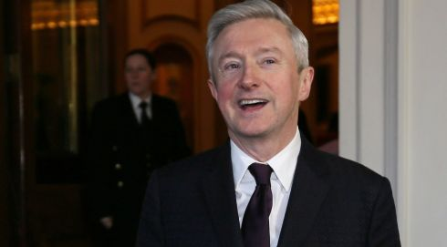 Louis Walsh arrives at yesterday's reception in Buckingham Palace. Photograph: Alastair Grant/WPA Pool/Getty Images