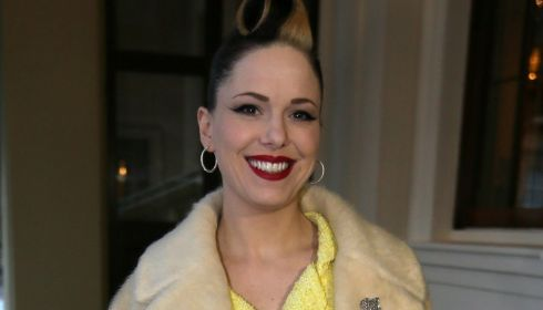 Imelda May arrives at Buckingham Palace for last night's reception. Photograph: Alastair Grant/WPA Pool/Getty Images