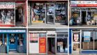 A selection of the shopfronts from Dublin Shops: Photographs by Paul Tierney